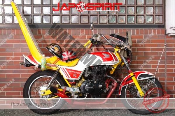 Photo of Honda SUPER HAWK R, Zokusha style, Long Sandan sheet, Mongolian hood, White & red color