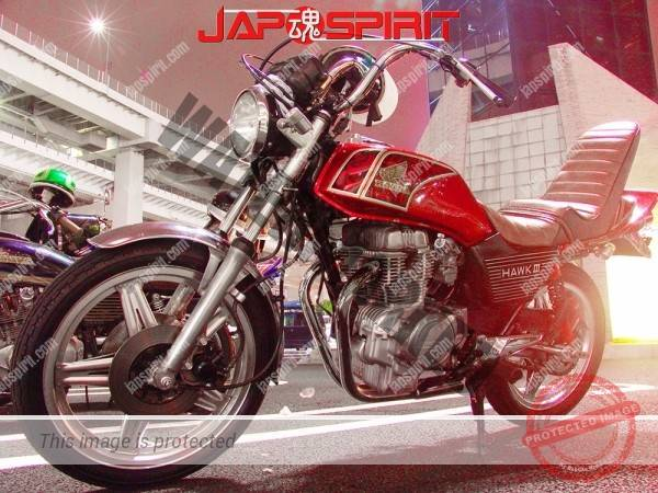 HONDA CB400T Zokusha style, short sandan sheet, Shibori handle, red color