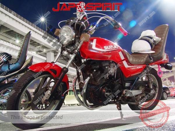 SUZUKI GSX400 (Zari), Zokusha style,short brown sandan sheet, red color