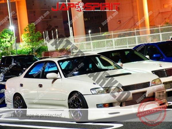 TOYOTA Mark II 7th x90, Street drift style, White and aero bonnet