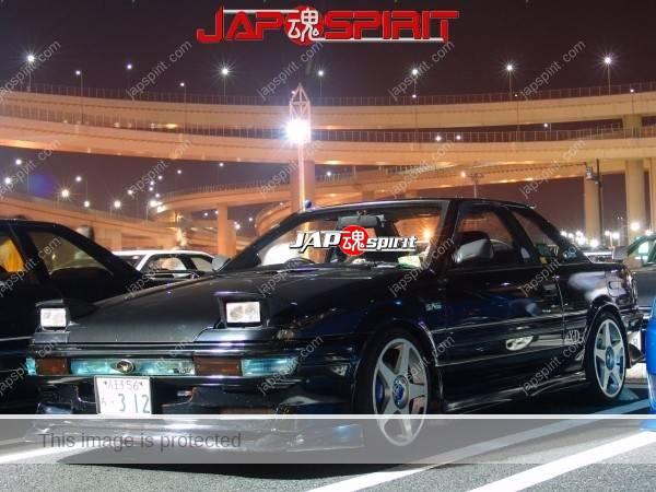 TOYOTA MR2 AW11, Hashiriya style, black car, white wheel