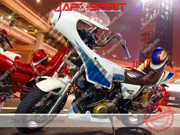 KAWASAKI Z400FX Zokusha style, Dynamic rocket cowl, air horn, Sandan sheet (2)