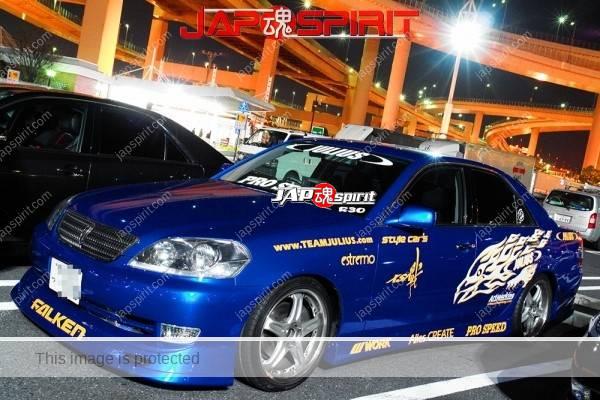 "Photo of TOYOTA Mark II 9th x110, Street drift style, Blue color, team ""Julius"""