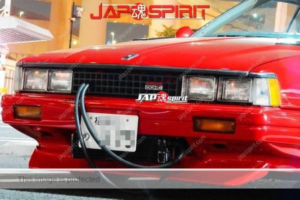 NISSAN Silvia 3rd S110, Zokusha style over fender, Bared oil cooler hose, red body. (2)
