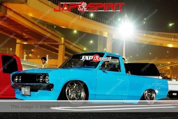 NISSAN Dutsun truck 620, landing truckin style, light blue.