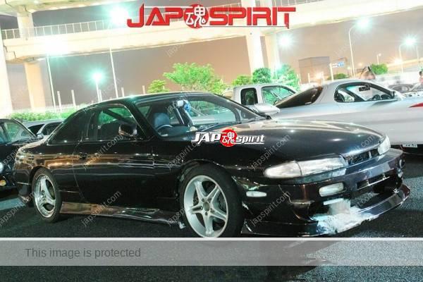 NISSAN Silvia S14, Street drift style, brokened front spoiler, black colofr (2)