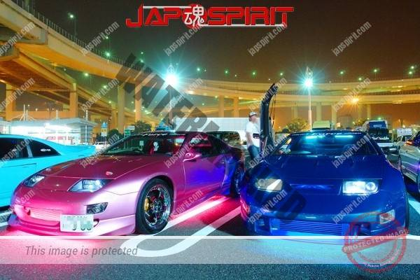 Nissan Z-car Z32 Beautiful twins, metaric pink & blue color spokon style, scissor door (3)
