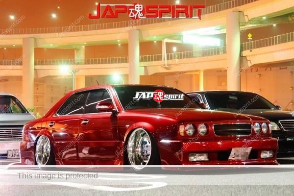 NISSAN Gloria Y33, VIP style, Dark red color, chrome shining platingwheel
