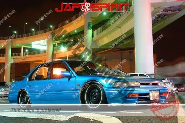 HONDA Accord CB, Lowrider style, Tecchin wheel, Rich blue color (2)