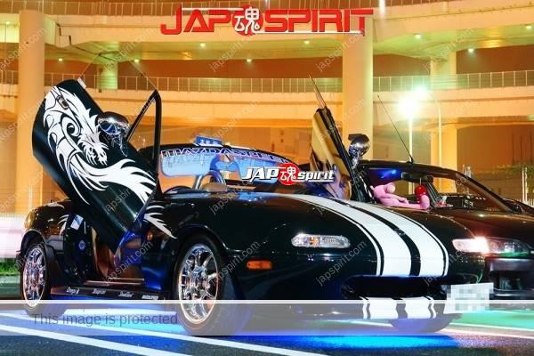 MAZDA Roadster, Dragon vinylgraphic, blue lighting, spokon style, plating wheel (2)