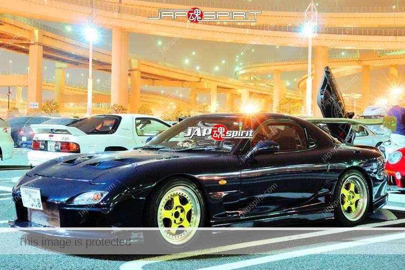 MAZDA RX7 FD Dark blue spokon style gold wheel aero bonnet (1)