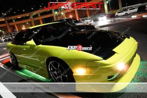 Nissan Street Drift Style With Green Under Neon Light Yellow