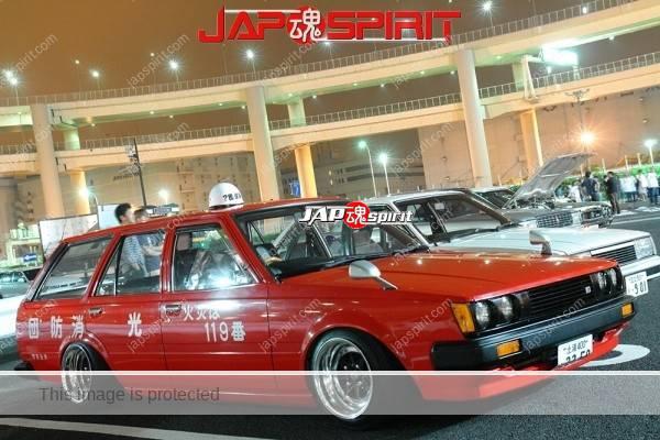 NISSAN Bluebird 6th x910, Zokusha style, Fire engine imitation, Fuka rim wheel (Deep rim), over fender (2)