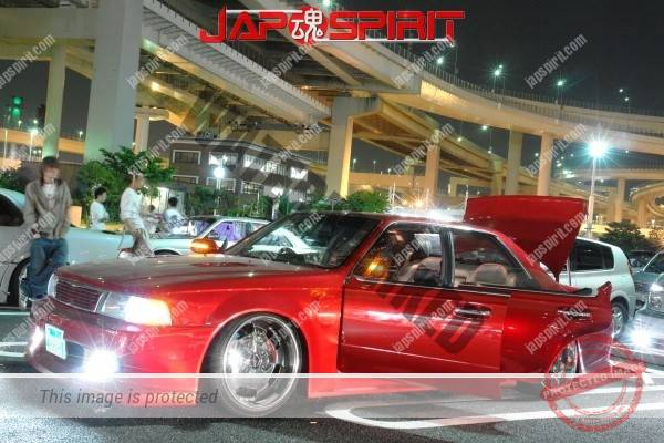 Photo of NISSAN C34 Laurel VIP Sotomuki style Red color, crome wheel, shakotan