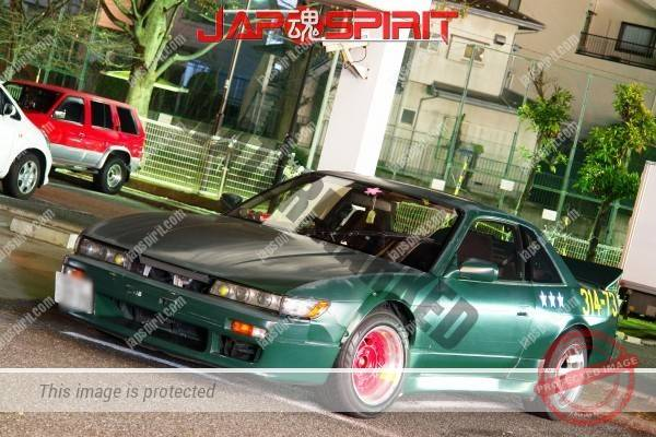 Nissan Silvia S13 with street style drift car, motif of the Zero fighter (4)