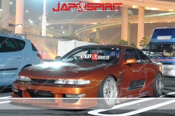 NISSAN Silvia S14, Aggressive street drift style, Big GT-wing dark orange color (1)