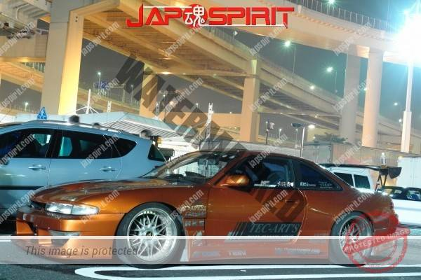 NISSAN Silvia S14, Aggressive street drift style, Big GT-wing dark orange color (2)