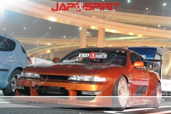 NISSAN Silvia S14, Aggressive street drift style, Big GT-wing dark orange color (3)