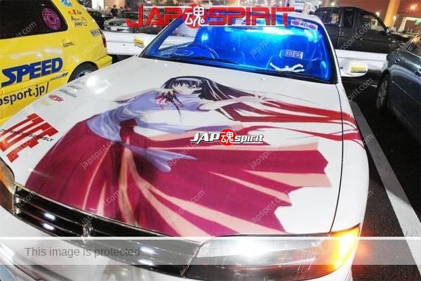 NISSAN Silvia S14, Itasha spokon style, Anime sticker on the body (1)
