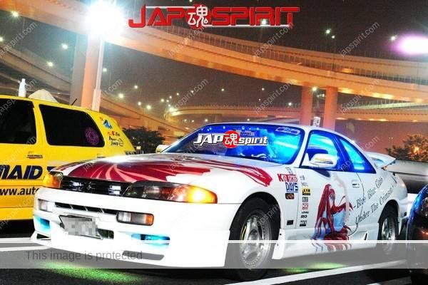 NISSAN Silvia S14, Itasha spokon style, Anime sticker on the body (2)