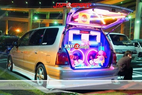 Photo of Honda Odysse 1st, Sotomuki sound car, two big speaker with led lighting