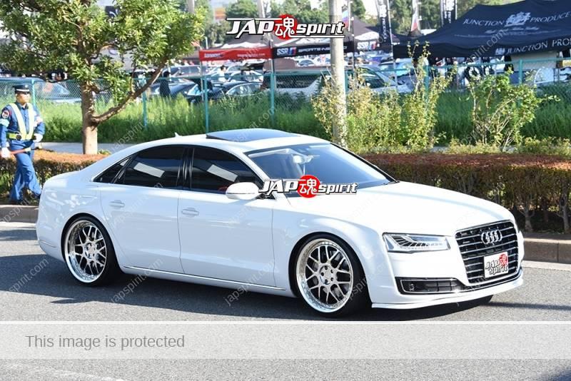 Photo of Stancenation 2016 Audi A4 facelift hellaflush white body at odaiba