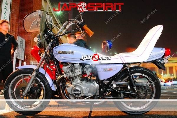 SUZUKI GS400, Zokusha style, light blue, mongolian hood & sandan sheet