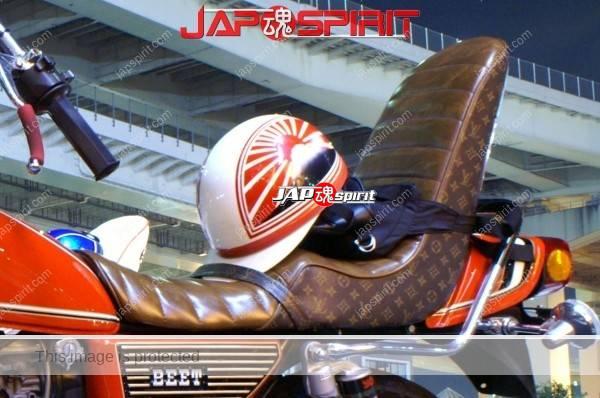 SUZUKI GS400, Zokusha style, Louis Vuitton sheet & Rocket cowl, red color (1)