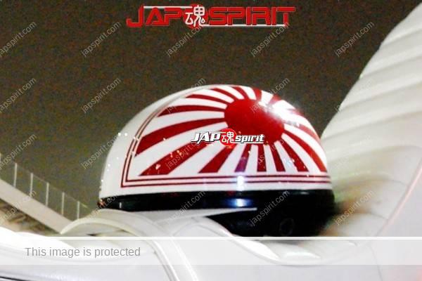 SUZUKI GT380 (Sanpachi), Light sea Green color, white sandan sheet, Japan flag Korukuhan (2)