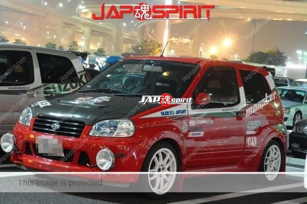 SUZUKI Swift, Microcar Hashiriya style, red color Vinylgraphic (3)