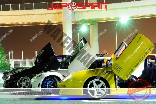 TOYOTA Celica yellow & LED lighting, Spokon style Scissor door, & MAZDA RX8 & Honda Odyssay (1)