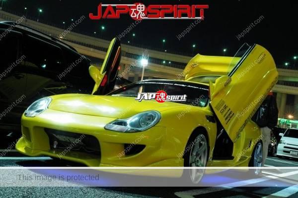 TOYOTA Celica yellow & LED lighting, Spokon style Scissor door, & MAZDA RX8 & Honda Odyssay (4)