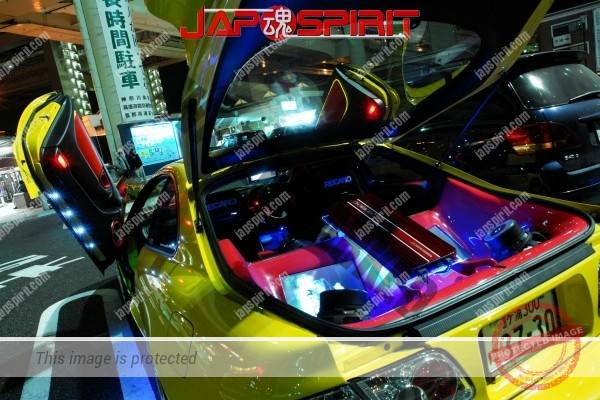 TOYOTA Celica yellow & LED lighting, Spokon style Scissor door, & MAZDA RX8 & Honda Odyssay (8)