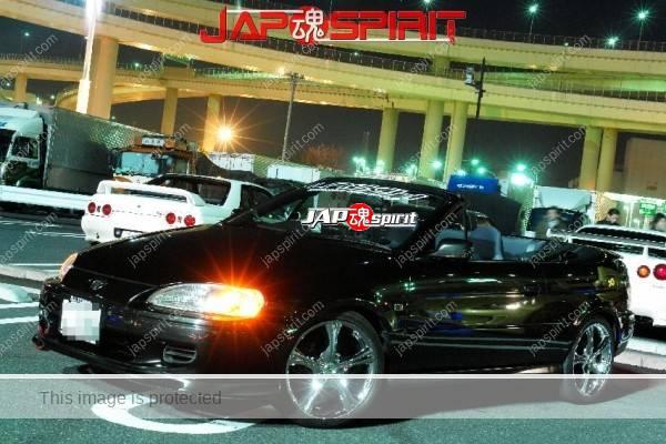 Toyota CYNOS, USDM style car, convertible, black (1)