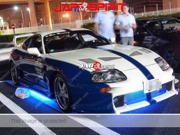 TOYOTA Supra, Supokon style, Blue & white color, Blue under light, Yello color (1)