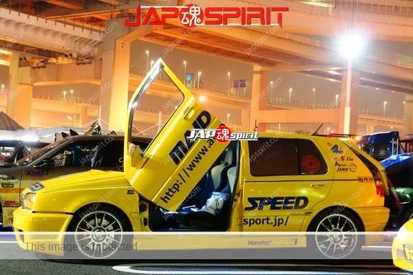Volkswagen Golf Mk3 (1H), Itasha style, Scissor door, Yellow color, Maid speed (3)