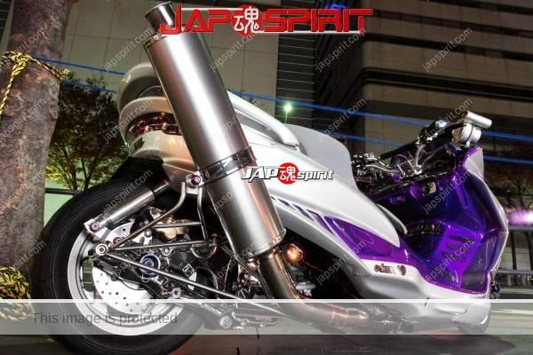 Yamaha Majesty, Big upward muffler , silver color body (2)
