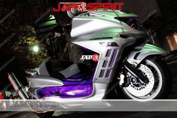Yamaha Majesty, Big upward muffler , silver color body (3)