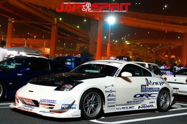 NISSAN Fiarlady Z33, Spokon style, blister fender & GT wing, white color with my logo paint (2)